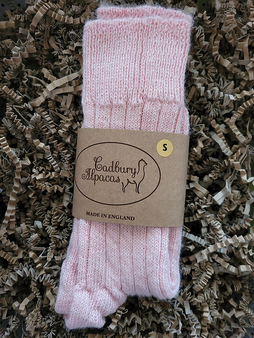 Cadbury Alpaca Women's Bed Socks Size Small (4-7) Pink