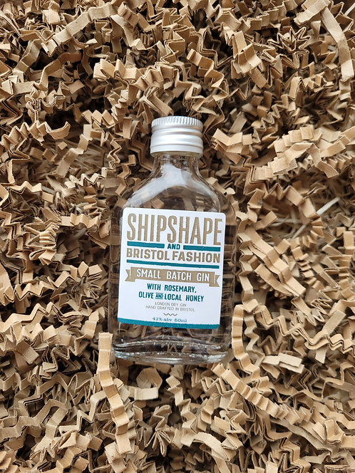 Shipshape & Bristol Fashion Mini Gin with Rosemary, Olive & Local Honey 50ml