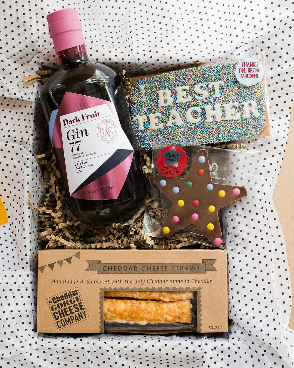 Bristol Hamper - Teacher's Gift Box, Gin & Snacks