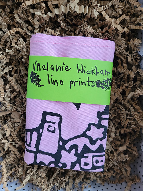 Melanie Wickham Bristol Tea Towel in Pink