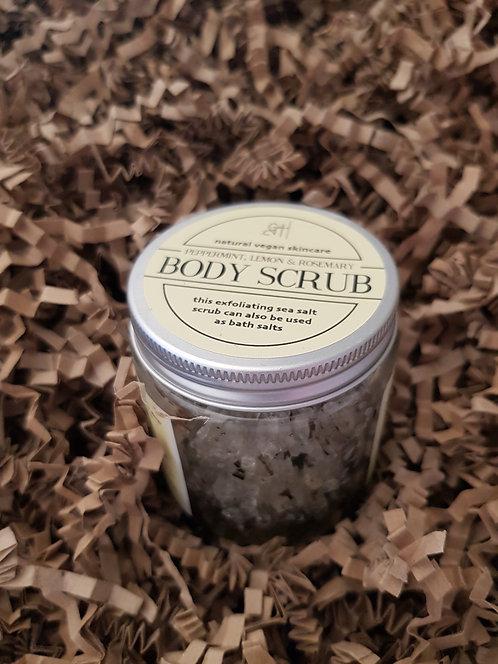 Grace and Hartland Peppermint, Lemon and Rosemary Body Scrub / Bath Salts
