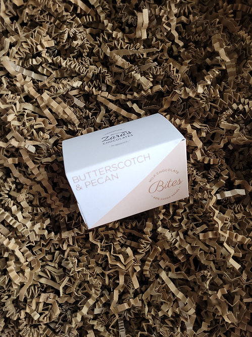 Zara's Chocolates Butterscotch & Pecan Bites