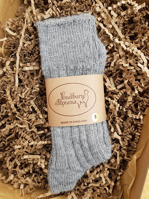 Cadbury Alpaca Women's Bed Socks Size Small (4-7)