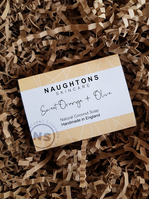 Naughtons Skincare Sweet Orange and Olive Soap