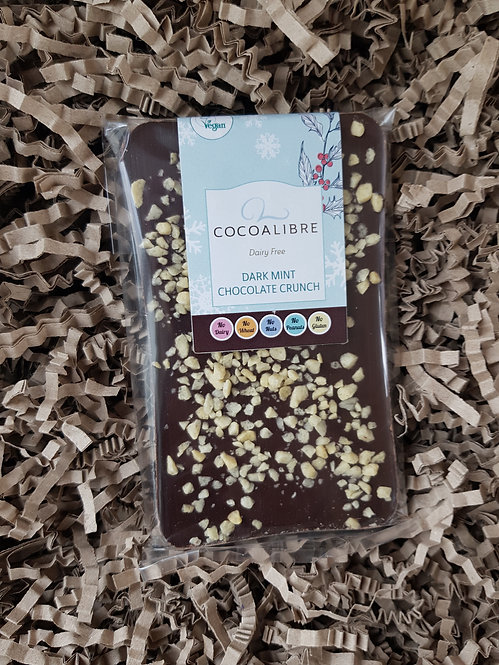 CocoaLibre Dark Mint Chocolate Crunch Slab 100g