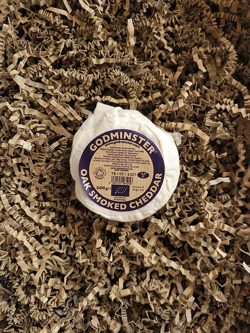 Godminster Oak Smoked Cheddar 200g