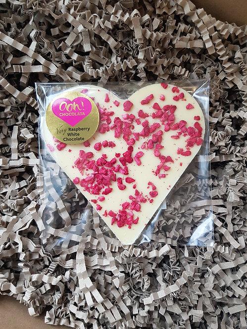 Ooh Chocolata White Chocolate and Raspberry Heart