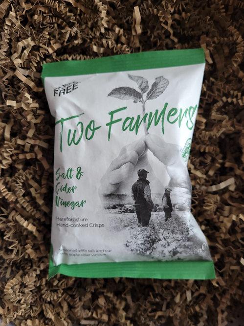 Two Farmers Individual bag Salt and Cider Vinegar Crisps 40g