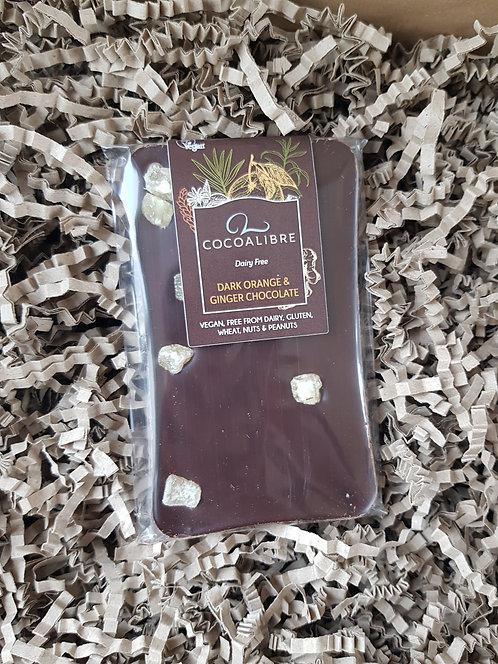 CocoaLibre Dark Orange and Ginger Chocolate Slab 100g