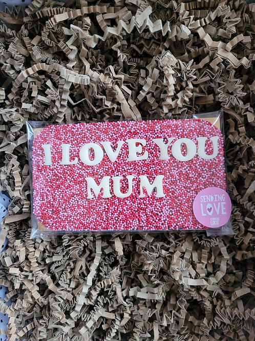 Choco Loco I LOVE YOU MUM Milk Chocolate Slab 130g Approx