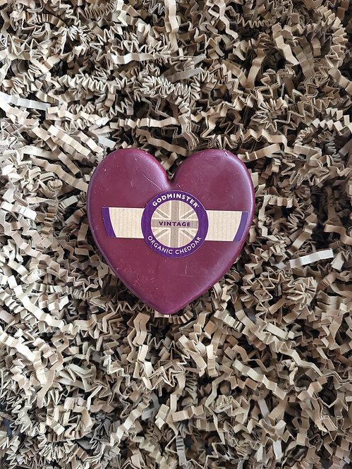 Heart shaped Godminster Vintage Cheddar 200g