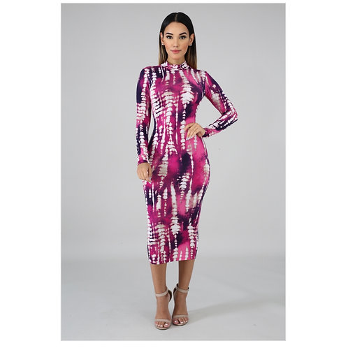 Dalonda Tie Dye Midi Dress