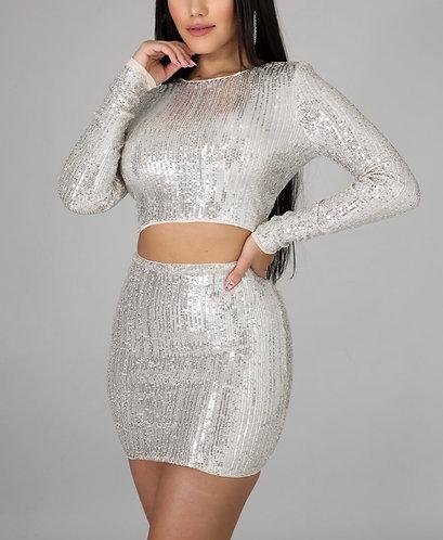 Sequin Skirt Set