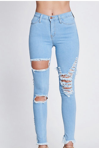 NISHA DISTRESSED SKINNY JEANS (PLUS)