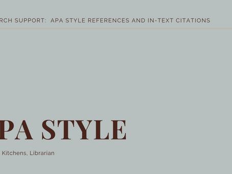 APA Style Presentation Sample