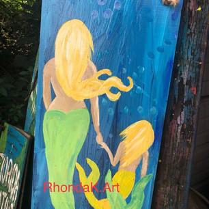 Mama and Daughter Mermaids