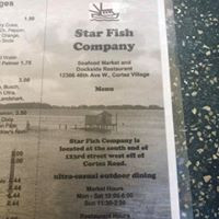 Star Fish Company Menu