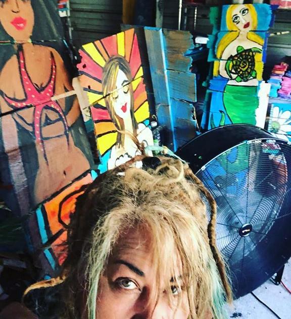 RhondaK In Art Studio...