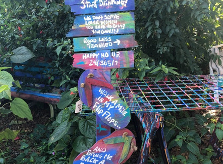 Six Foot Sign of Signs with a Flip Flop Center for Sale One Of A Kind