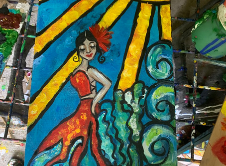 Sunshine Dancing on Waves ... Flamenco style