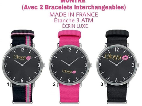 Montre bracelet interchangeable Glossy