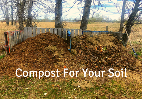 Tips for DIY compost for your garden soil to add to your organic backyard vegetable garden..