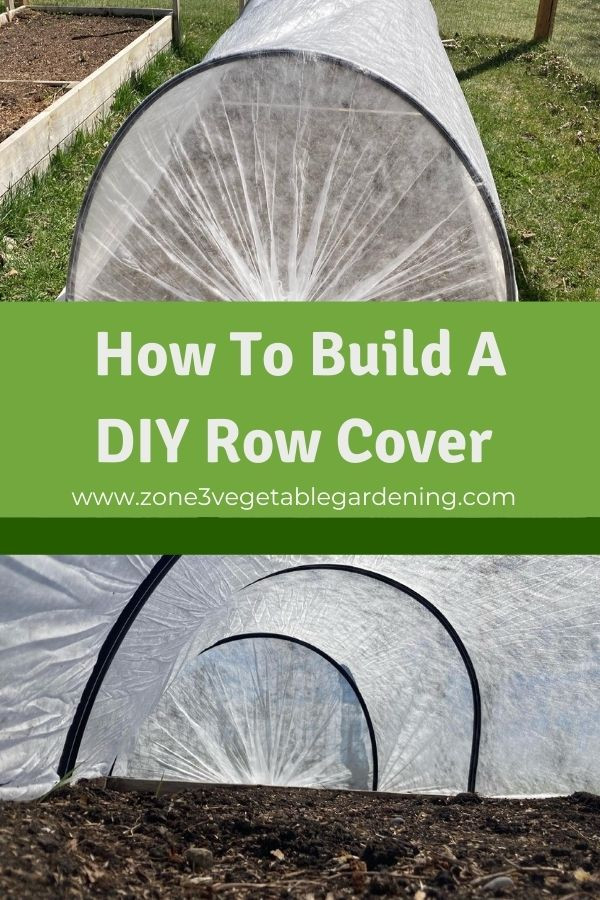 Find out how to build a DIY row cover for your raised bed zone 3 backyard vegetable garden out of PVC pipe and row cover cloth.