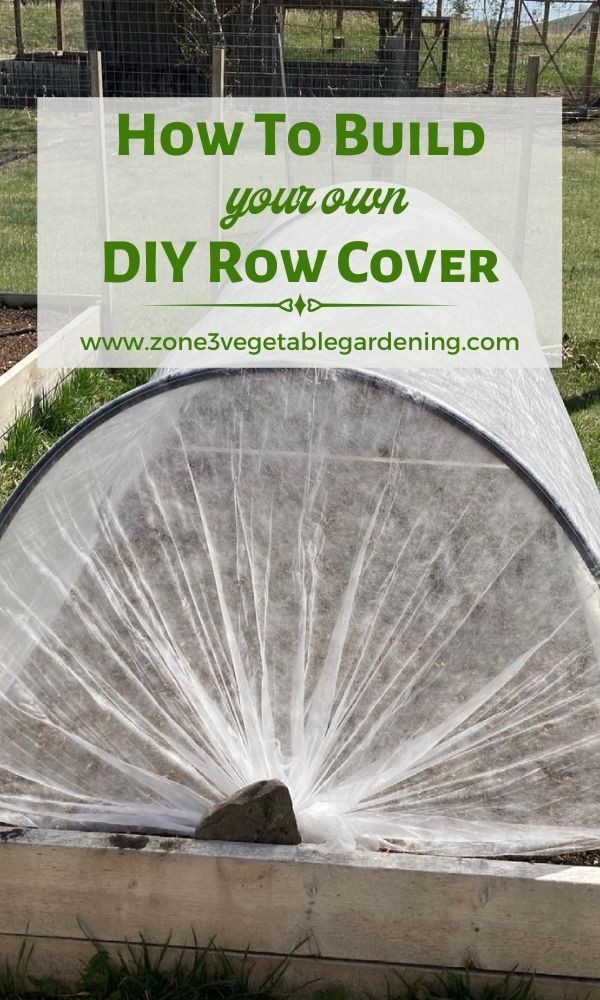 Find out how to build a DIY row cover for your raised bed zone 3 backyard vegetable garden out of PVC pipe and row cover cloth to protect plants from cabbage moths.
