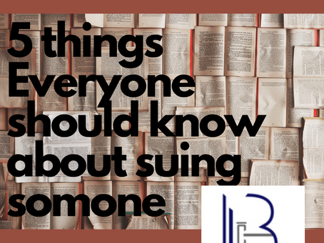 5 Things Everyone Should Know About Suing Someone