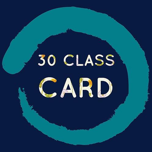30 Class Card