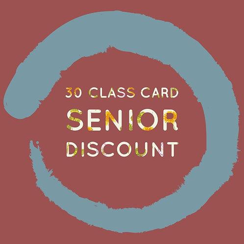 30 Class Card Senior Discount
