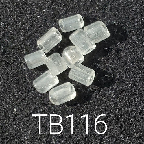 Clear V3 Glass Basket Bead (10 pack) 4.5x5mm