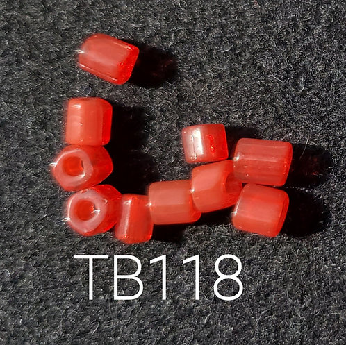 Red Glass Basket Bead (10 pack) 4.5x5mm