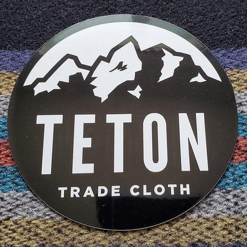 Round Teton Logo Sticker