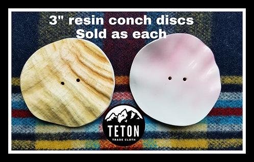 """(1 Piece) Replica (resin) Smooth Edge Conch Disc 3"""""""