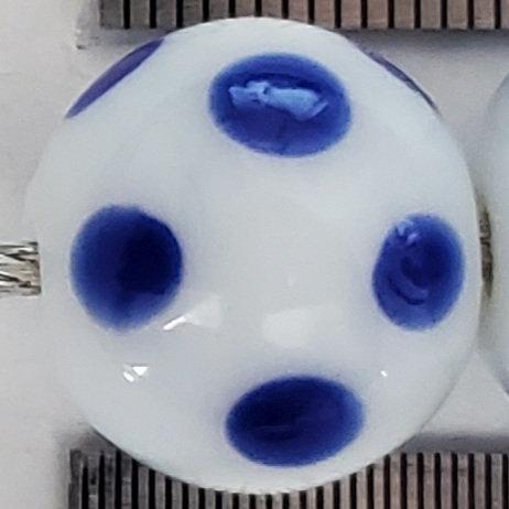 Blue White Skunk Bead (10 pack) 12mm