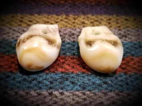 Replica Bull Elk Teeth, $4 EACH, not sold as pairs