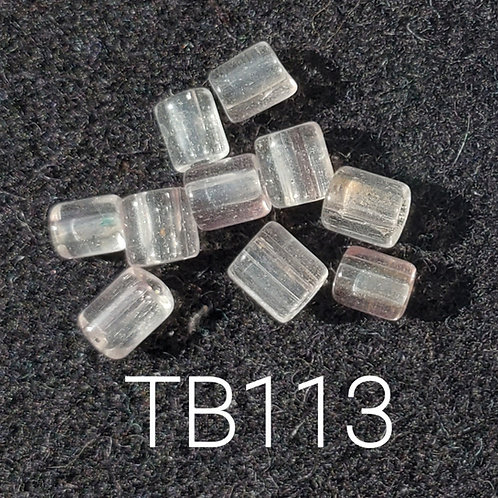 Clear V1 Glass Basket Bead (10 pack) 4.5x5mm