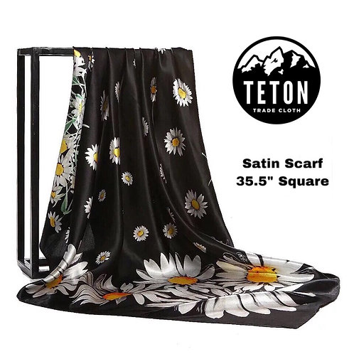 Daisy Flowers Satin Dance Scarf