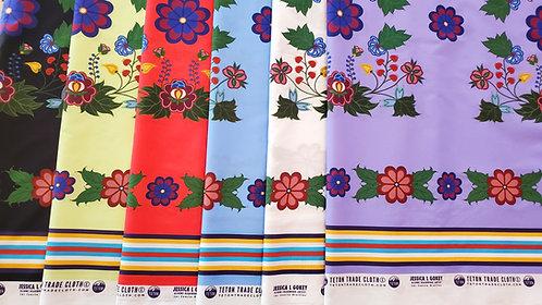 Cotton and Satin Fabric Designed by Jessica Gokey  by Teton Trade Cloth