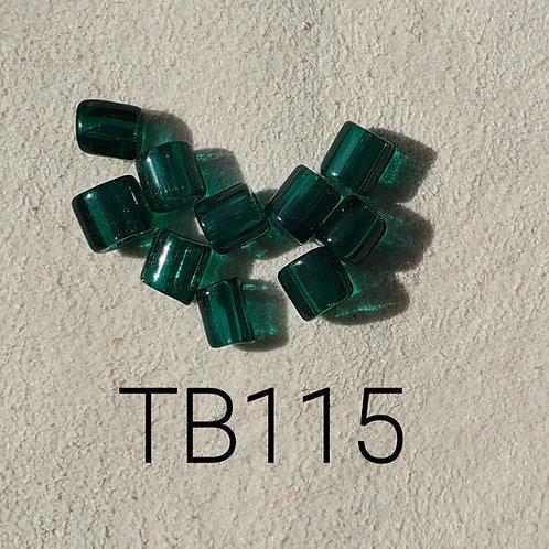 Green Glass Basket Bead (10 pack) 4.5x5mm