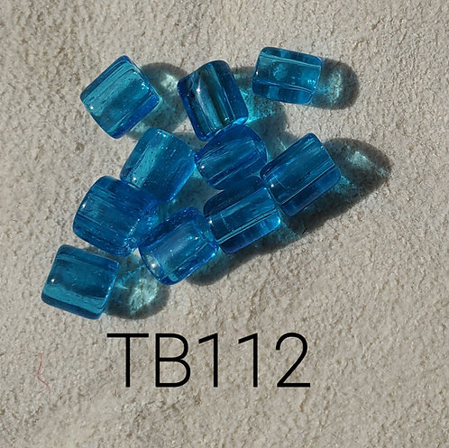 Turquoise Glass Basket Bead (10 pack) 4.5x5mm