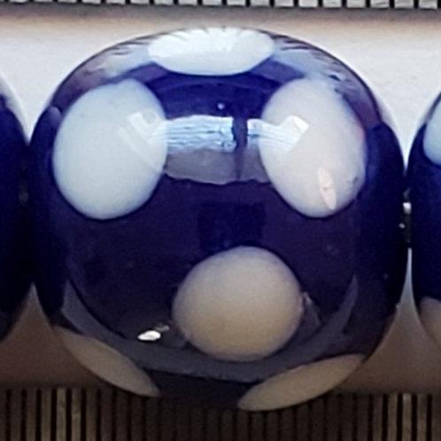Royal Blue Skunk Bead (10 pack)