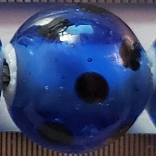 Transparent Blue Skunk Bead (10 pack)