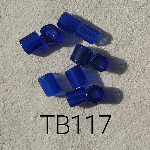 Cobalt Glass Basket Bead (10 pack) 4.5x5mm