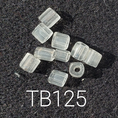 Clear V2 Glass Basket Bead (10 pack) 4.5x5mm