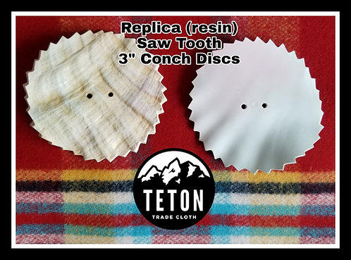 (1 Piece) Replica (resin) Saw Tooth Conch Disc 3""