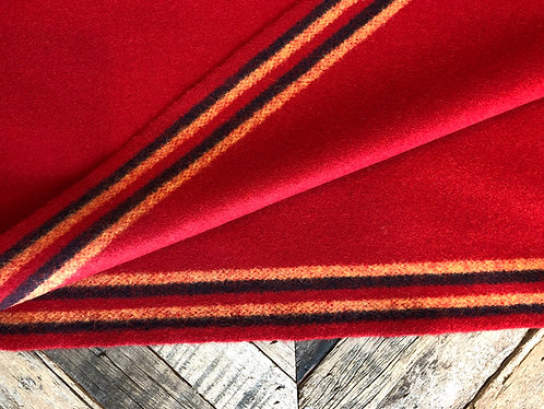 Red 1800s English 6 Band Cloth