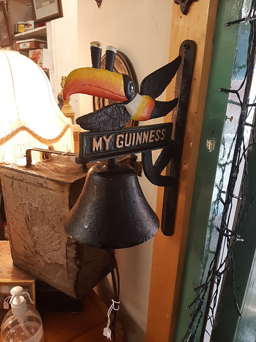 Cast iron Guinness toucan bell (Reproduction)