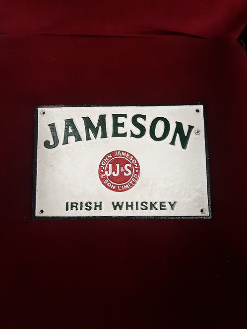 Cast Iron Jameson reproduction sign